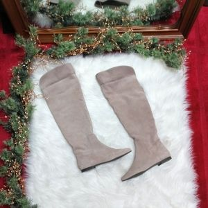 Gianni Bini Real Suede Over The Knee Boots